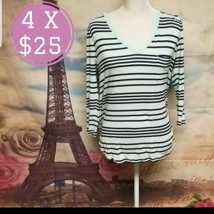 Merona striped long sleeve tee
